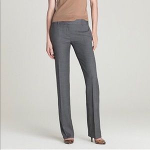 J Crew Super 120s 1035 Gray Wool Trousers 16 NWT